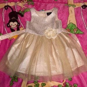 Light gold party toddler dress 2T